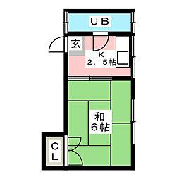 メゾンタキ井尻B[101号室]の間取り