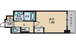 ファーストフィオーレ江坂レガリス 3階1Kの間取り