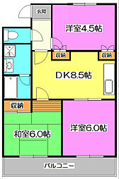 プリンセスマンション[3階]の間取り