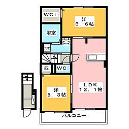 グル ピーノI[2階]の間取り