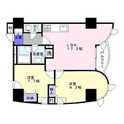 21コートマルナカ[4階]の間取り