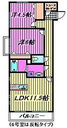 フラッツ蔵 壱番館[2階]の間取り