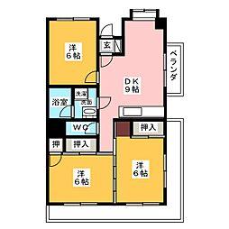 ニュー清水[2階]の間取り