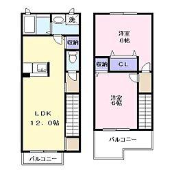アビタシオン3[2階]の間取り
