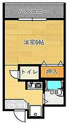 グランヴェール深澤[206号室]の間取り