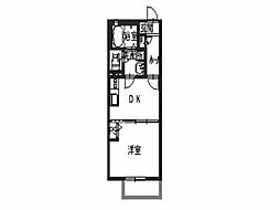 シャーメゾン菱谷西[2階]の間取り