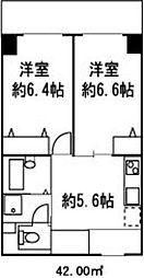 ドミール菊川[410号室]の間取り