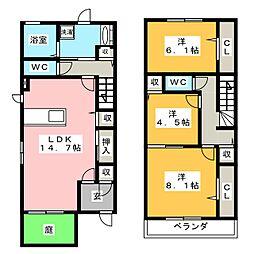 [一戸建] 愛知県名古屋市瑞穂区彌富通5丁目 の賃貸【/】の間取り