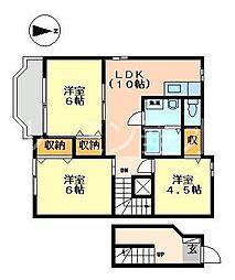 ジュアン弐番館[2階]の間取り