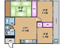 商業豊崎マンション[4階]の間取り