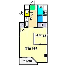 ハビット北棟[2階]の間取り