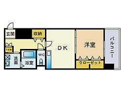グラディート吉塚駅東[5階]の間取り