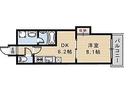 グラート西田辺[7階]の間取り