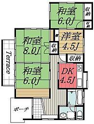 [一戸建] 千葉県四街道市栗山 の賃貸【/】の間取り