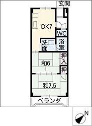アクセスコートIII[3階]の間取り