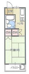 メゾンボア[2階]の間取り