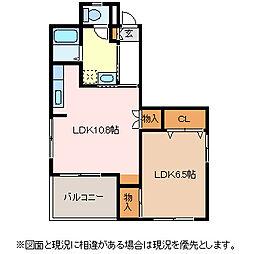 OKIビル[2階]の間取り