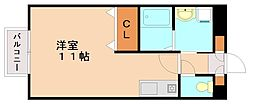 フライハイト通古賀[1階]の間取り