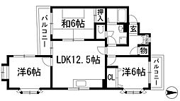 コーポネッカー[2階]の間取り