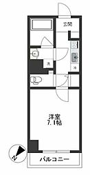 都営浅草線 蔵前駅 徒歩2分の賃貸マンション 5階1Kの間取り