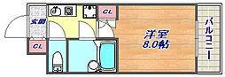 テレサエンバシ[4階]の間取り