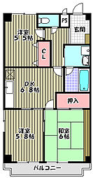 ピソ・キタノ[3階]の間取り