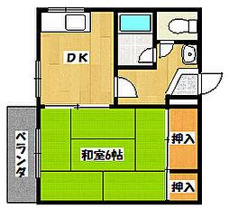 本八幡ピッコロハウス[2階]の間取り