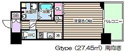 エス・キュート梅田中崎町[12階]の間取り