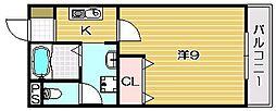 パーシモン茨木[311号室]の間取り