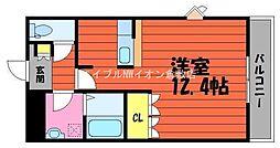岡山県倉敷市吉岡丁目なしの賃貸マンションの間取り