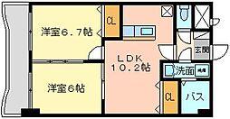 ウィークスM−one[3階]の間取り