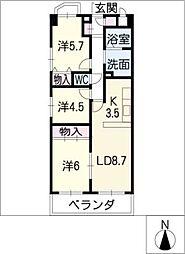 パークサイドM・I[3階]の間取り