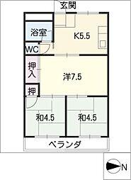 カトーコーポ[2階]の間取り