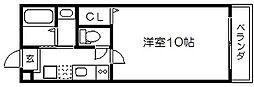 京洛マンション[2階]の間取り