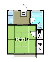 コーポ朋[2階]の間取り