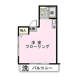 ユニーコーポ[3階]の間取り