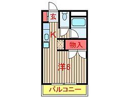 千葉県船橋市坪井西2丁目の賃貸アパートの間取り