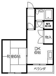 松原ハイツ[2階]の間取り