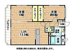 ユーミーマンションスペースGII[1階]の間取り