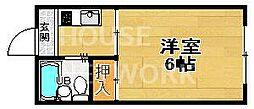 サニーハウス堀[201号室号室]の間取り