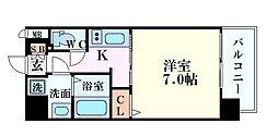 S-RESIDENCE福島grande(エスレジデンス福島グ 6階1Kの間取り
