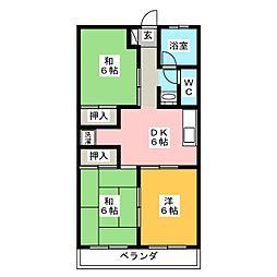 ロイヤルマンション広見[3階]の間取り