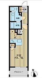 都営浅草線 大門駅 徒歩8分の賃貸マンション 10階ワンルームの間取り