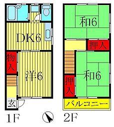 [テラスハウス] 千葉県柏市中央町 の賃貸【/】の間取り