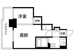 パシフィックタワー札幌 5階1DKの間取り