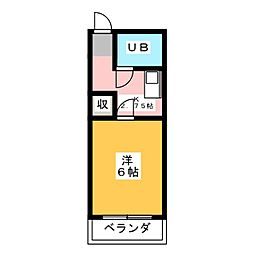 パピヨンイシダ[1階]の間取り