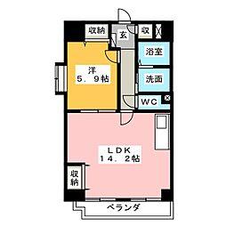 ホリホックイン八幡[7階]の間取り