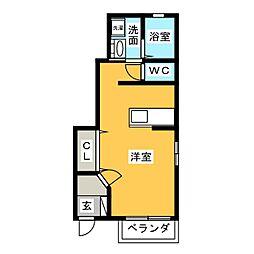 シャンドフルール五反田[1階]の間取り
