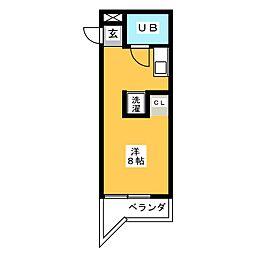 西須ヶ口ハイツ[3階]の間取り
