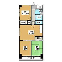 キトーハイツ[4階]の間取り